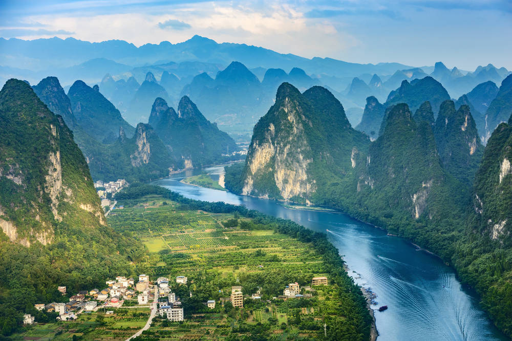 The Li River in China.