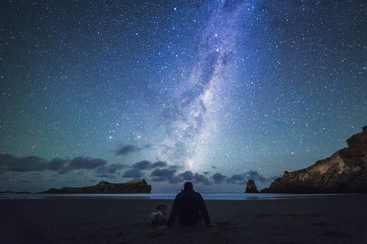 On the lower east coast of the North Island, the small beachside town of Castlepoint is famous for its lighthouse. A lesser known asset is the bright lights above.