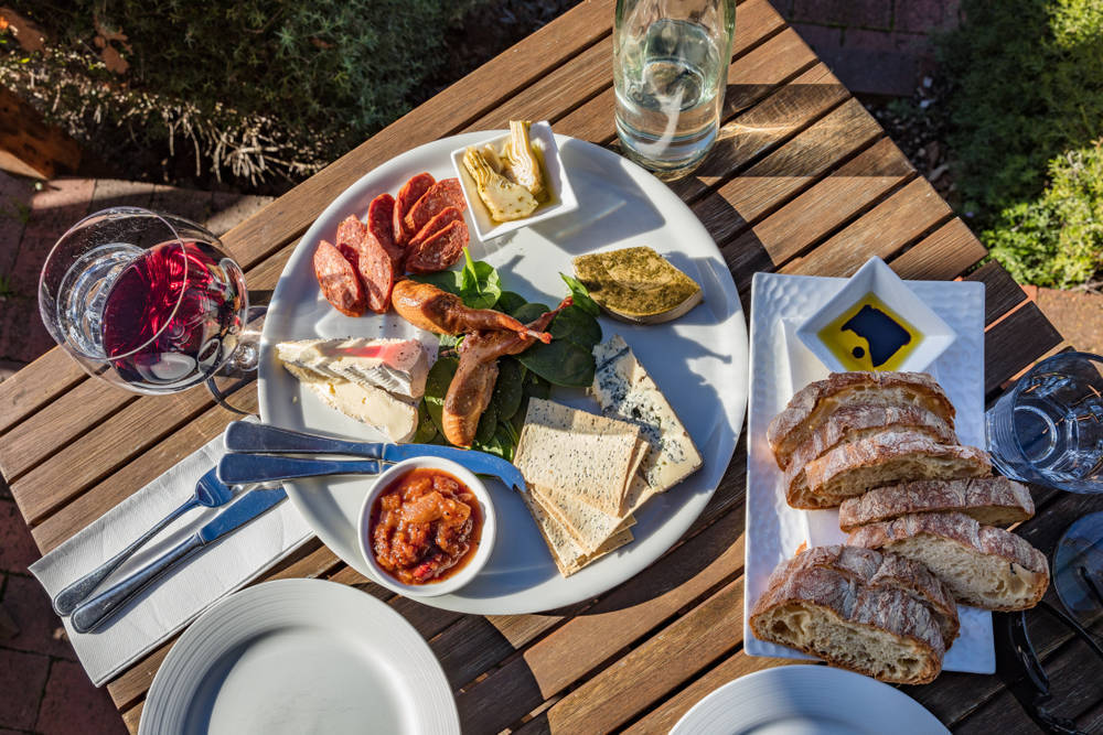 A cheese and meat platter from Bruny Island.