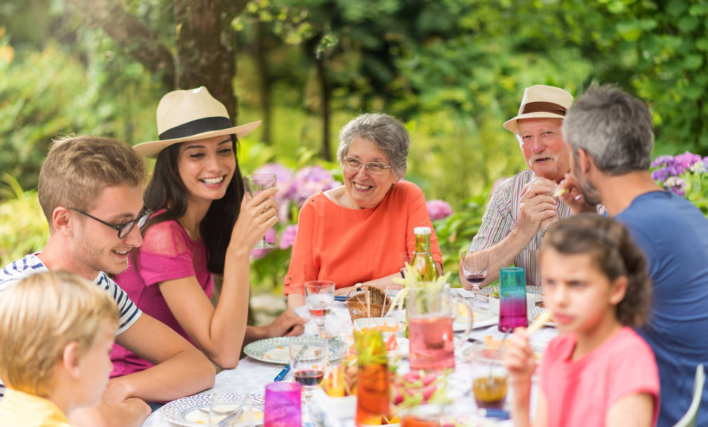 On multi-generational and large group trips, sharing meals is a lovely way to share what you've done during the day