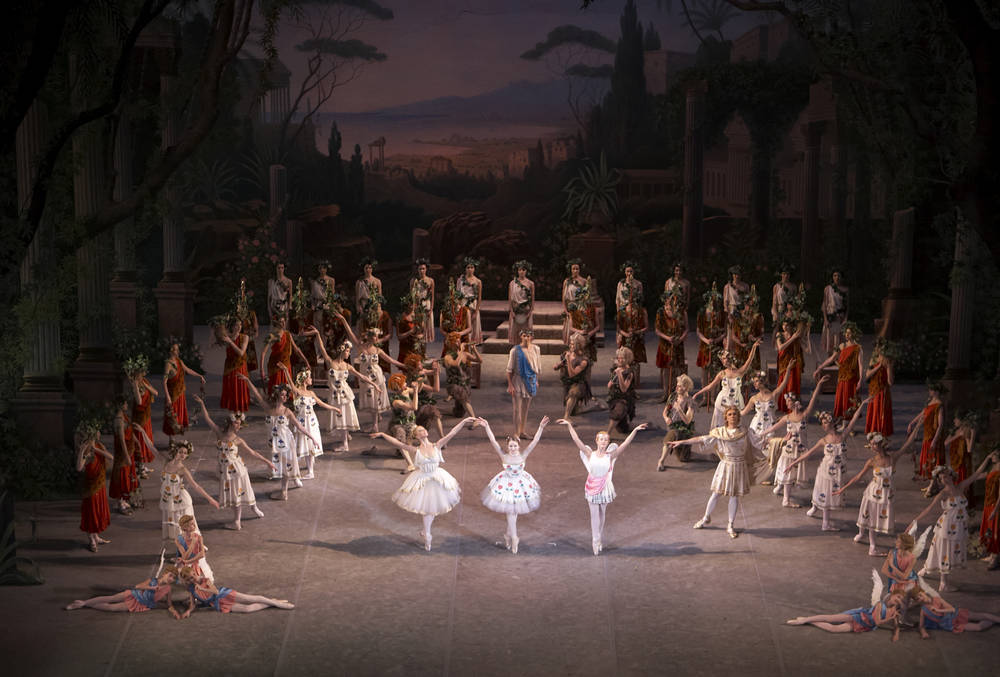 A troupe from St Petersburg perform on the Bolshoi stage