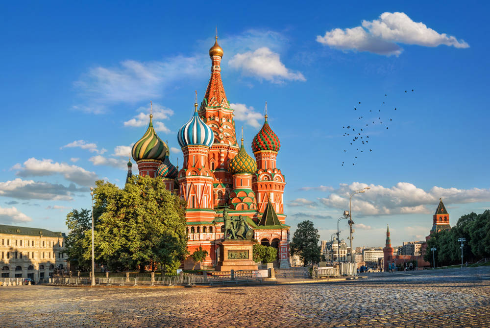 The fairy-tale like St basil's Cathedral