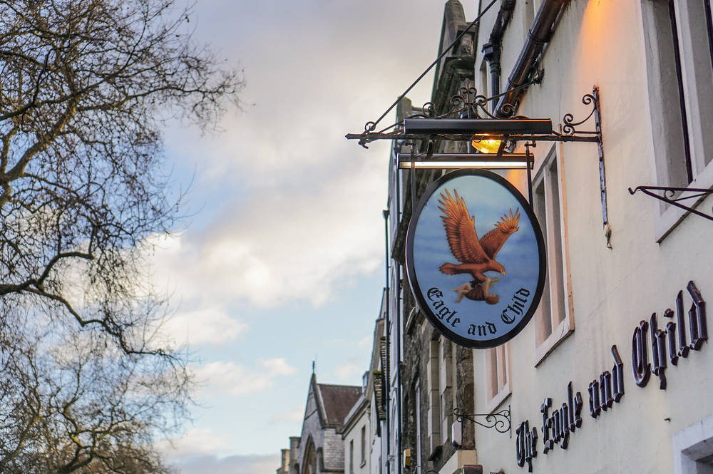 The Eagle and Child in Oxford.