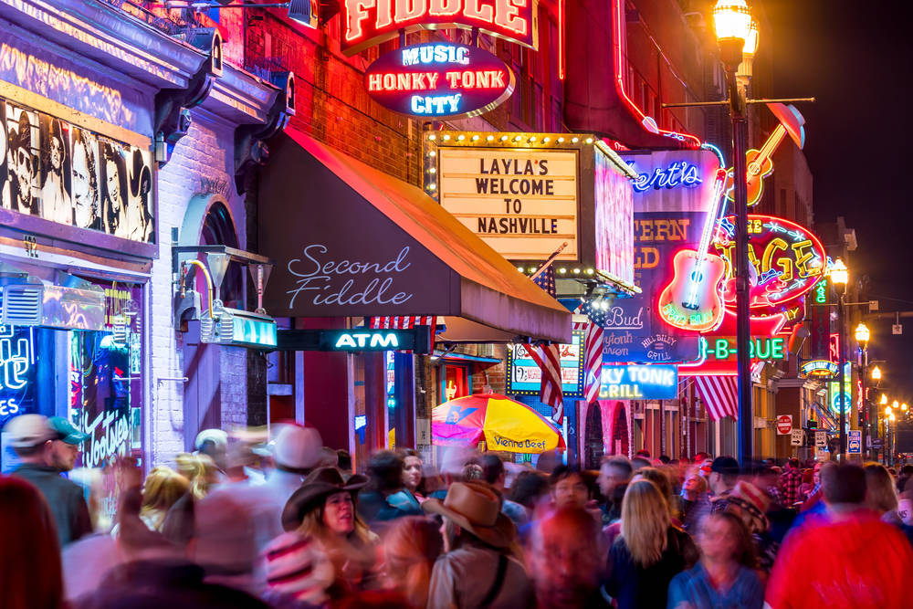 Throw yourself into foot-stomping country music and Americana in Nashville