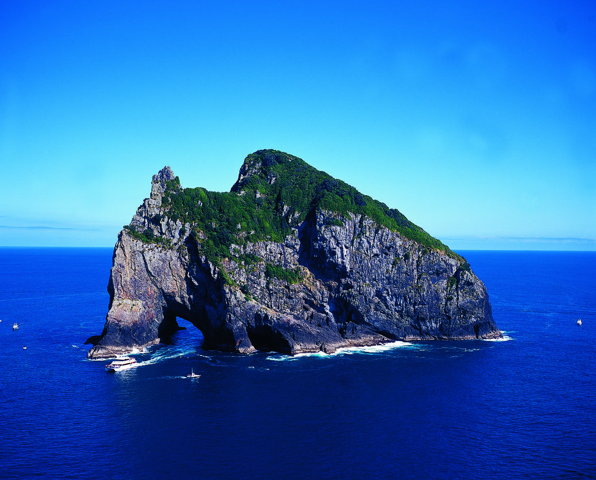 Famed Hole in the Rock in the Bay of Islands.