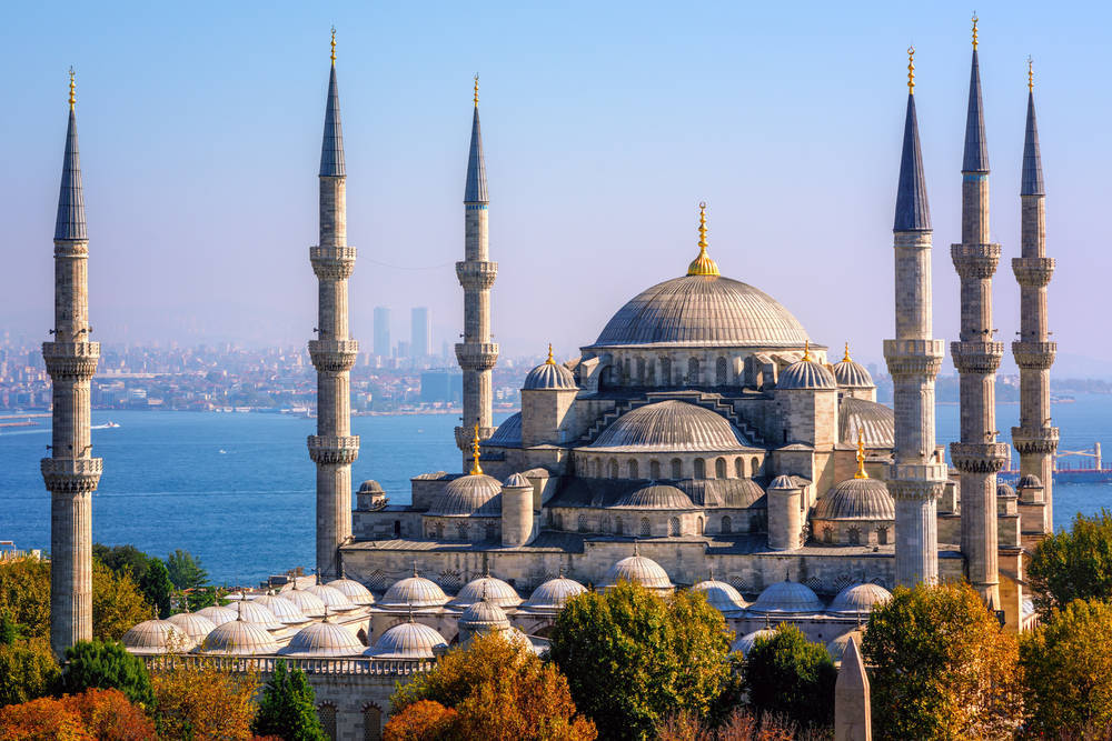 The Blue Mosque in Istanbul Turkey.