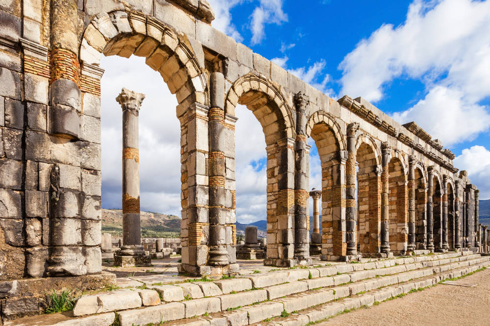 The ruins at Volubilis Morocco.